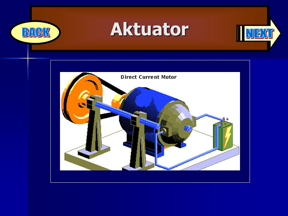 Aktuator BACK NEXT Instructor: