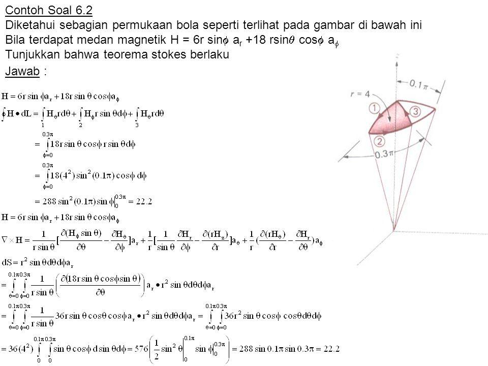 Contoh Soal 6.2 Diketahui sebagian permukaan bola seperti terlihat pada gambar di bawah ini.