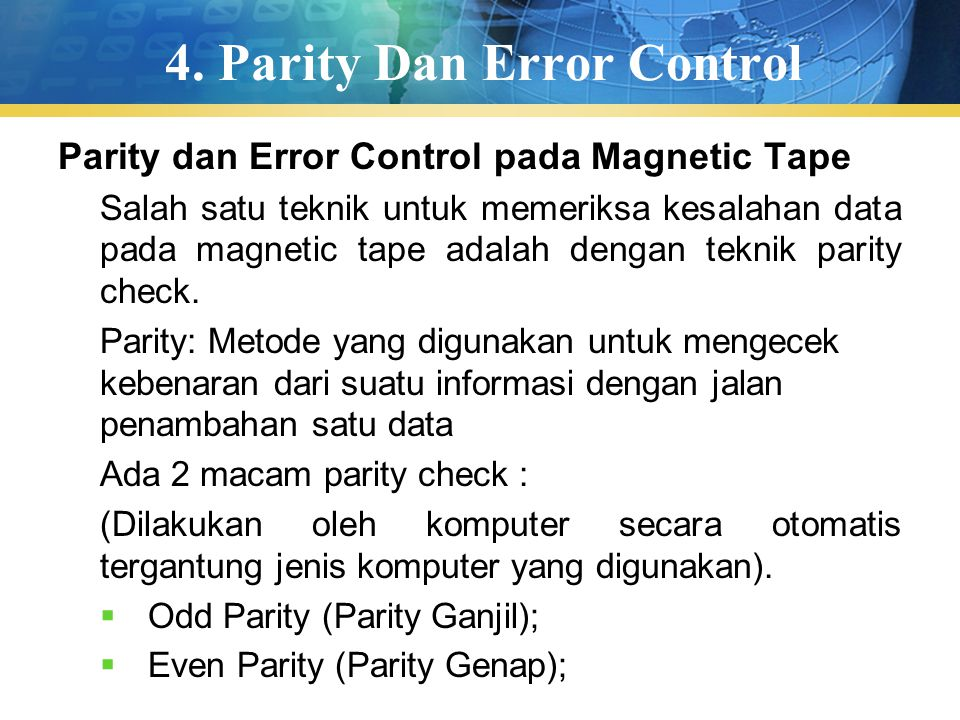 4. Parity Dan Error Control