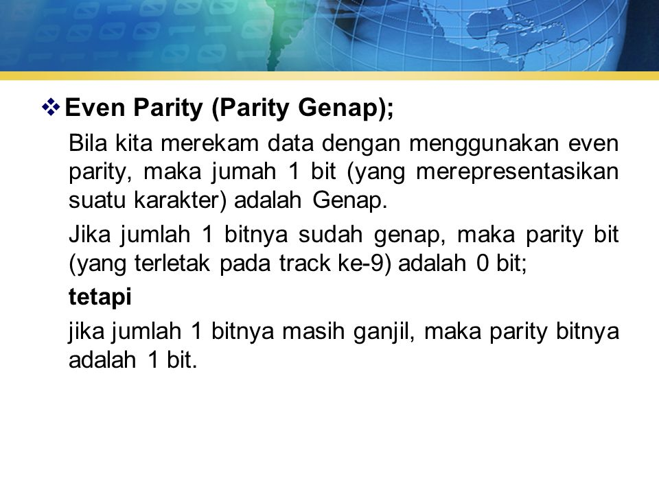 Even Parity (Parity Genap);