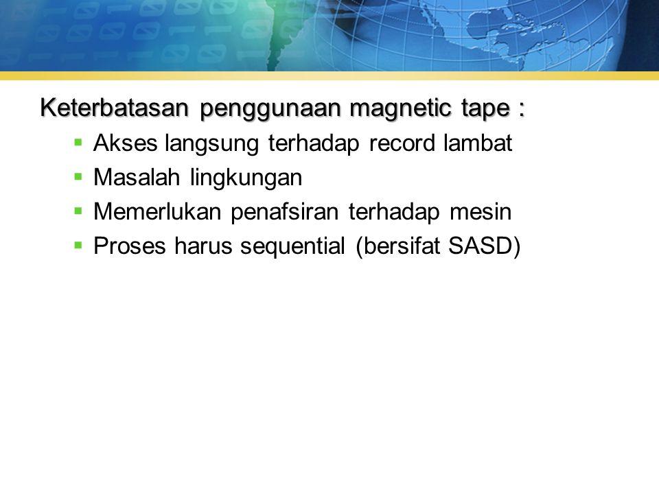 Keterbatasan penggunaan magnetic tape :