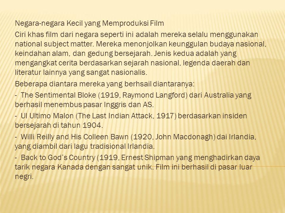Negara-negara Kecil yang Memproduksi Film