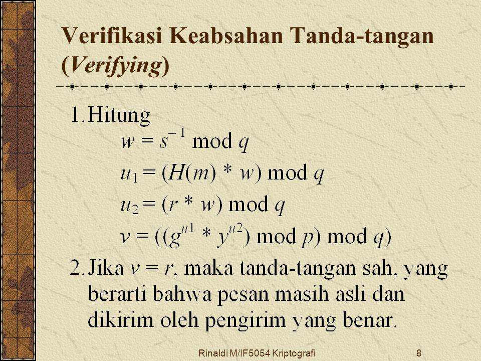 Verifikasi Keabsahan Tanda-tangan (Verifying)