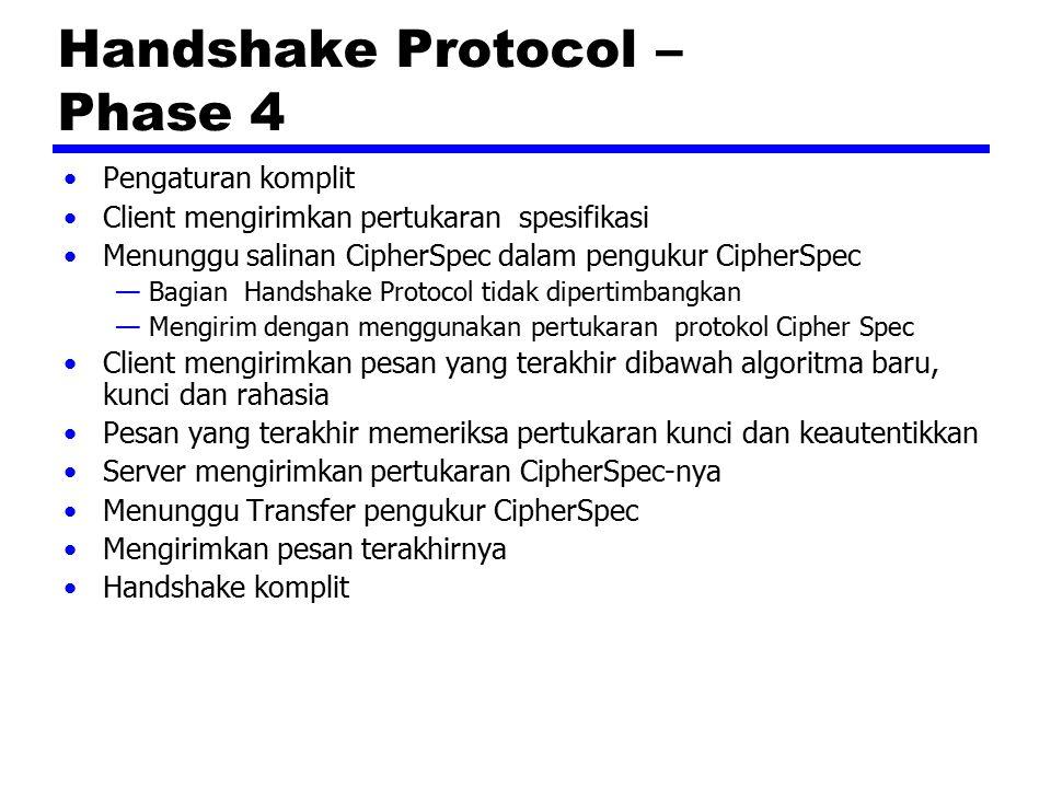 Handshake Protocol – Phase 4