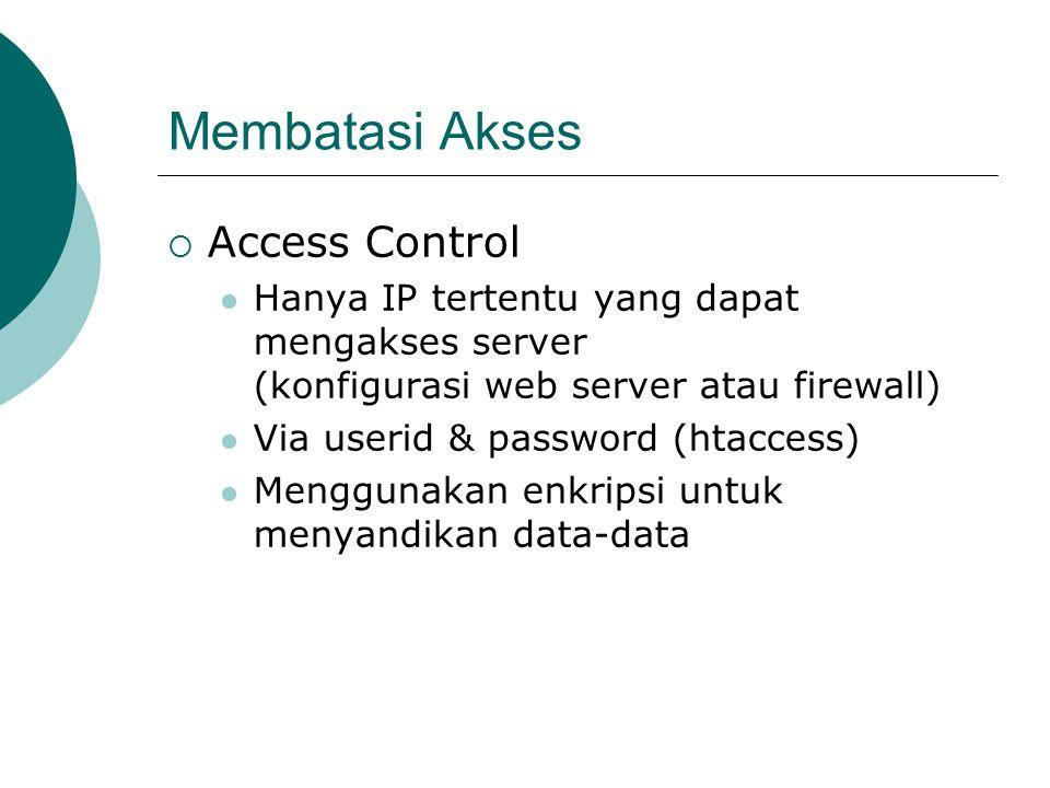 Membatasi Akses Access Control