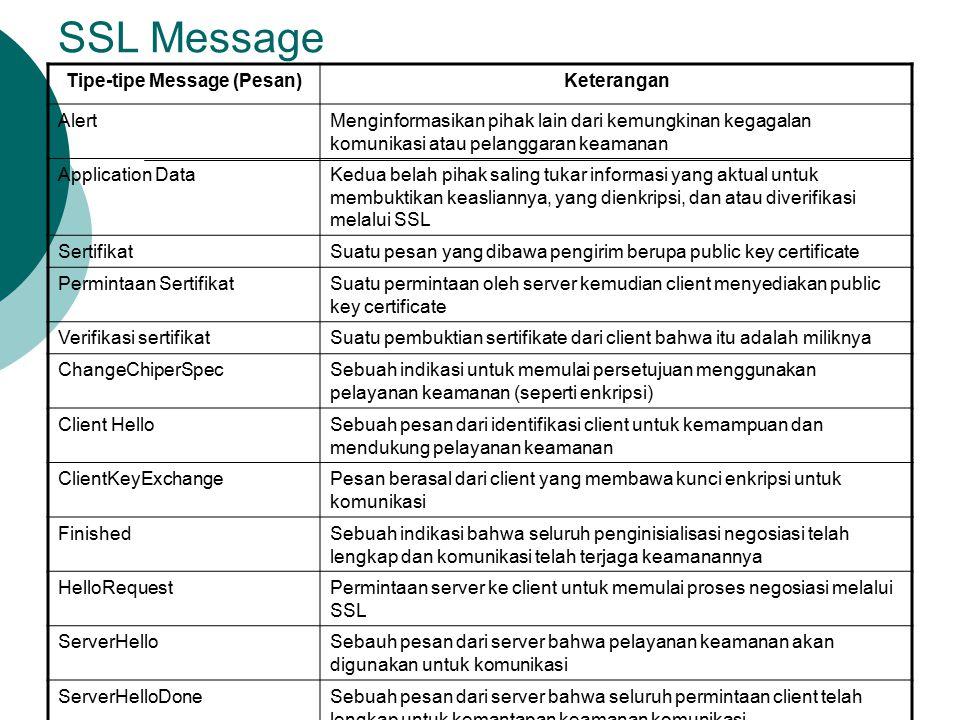 Tipe-tipe Message (Pesan)