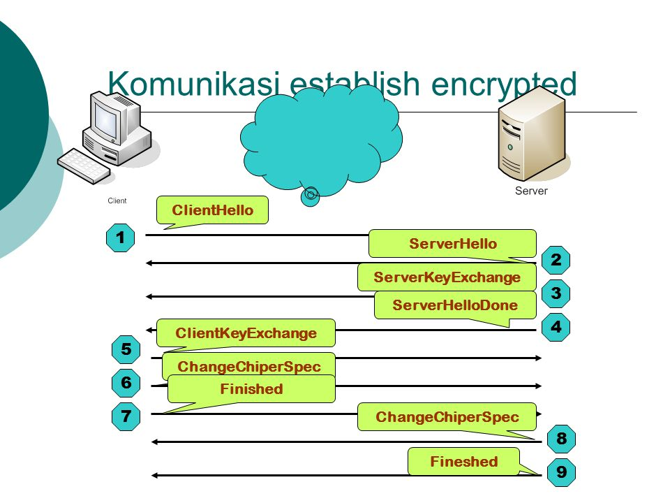 Komunikasi establish encrypted