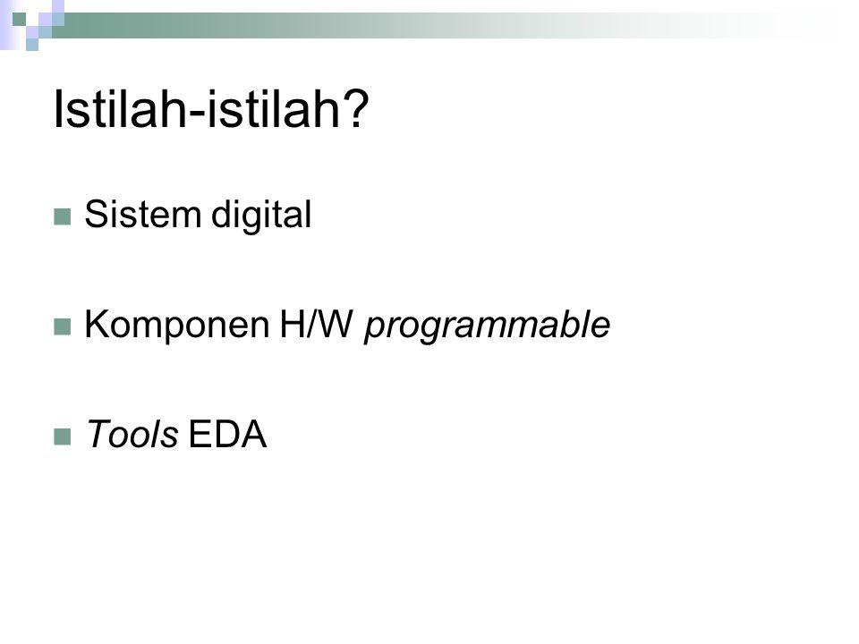 Istilah-istilah Sistem digital Komponen H/W programmable Tools EDA