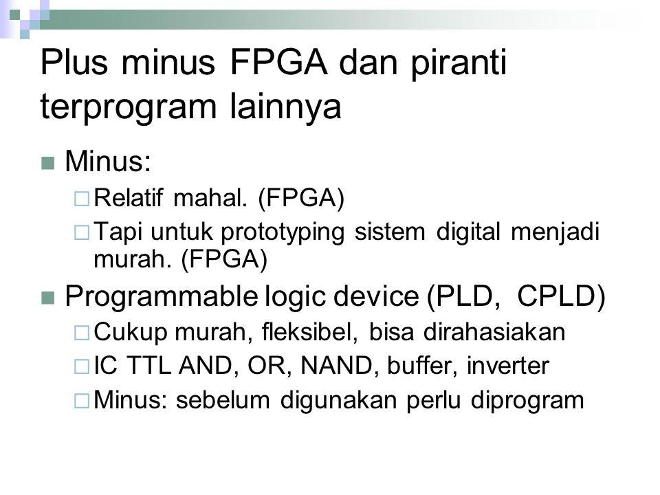 Plus minus FPGA dan piranti terprogram lainnya