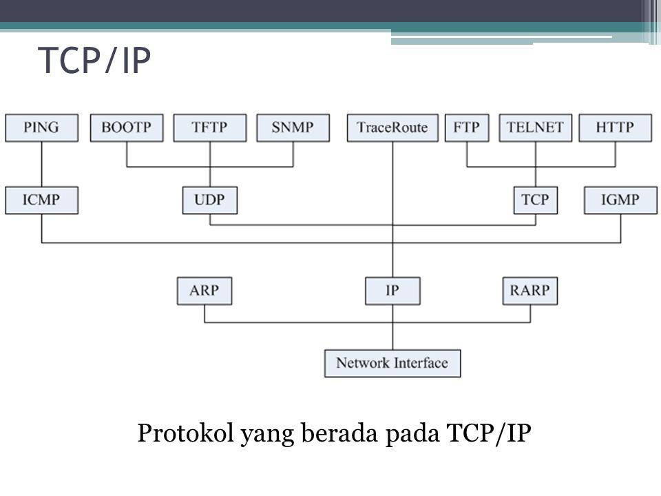 Protokol yang berada pada TCP/IP
