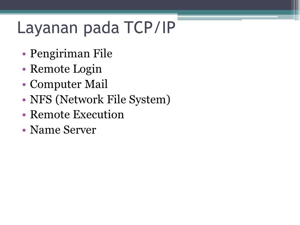 Layanan pada TCP/IP Pengiriman File Remote Login Computer Mail