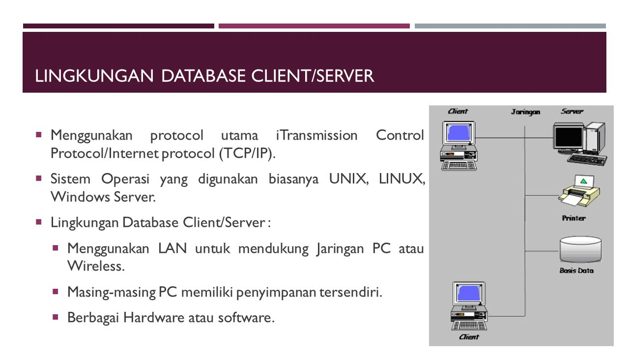 Lingkungan Database Client/Server