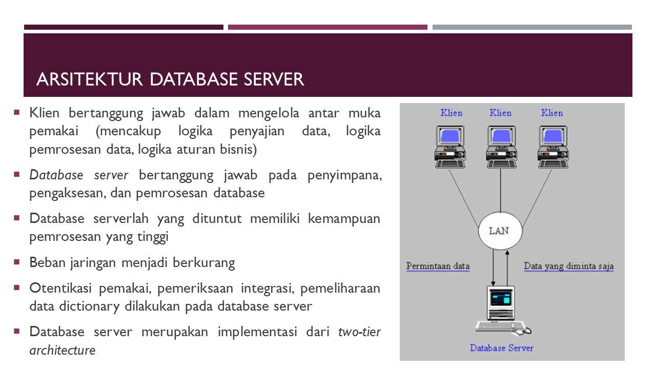 Arsitektur Database Server