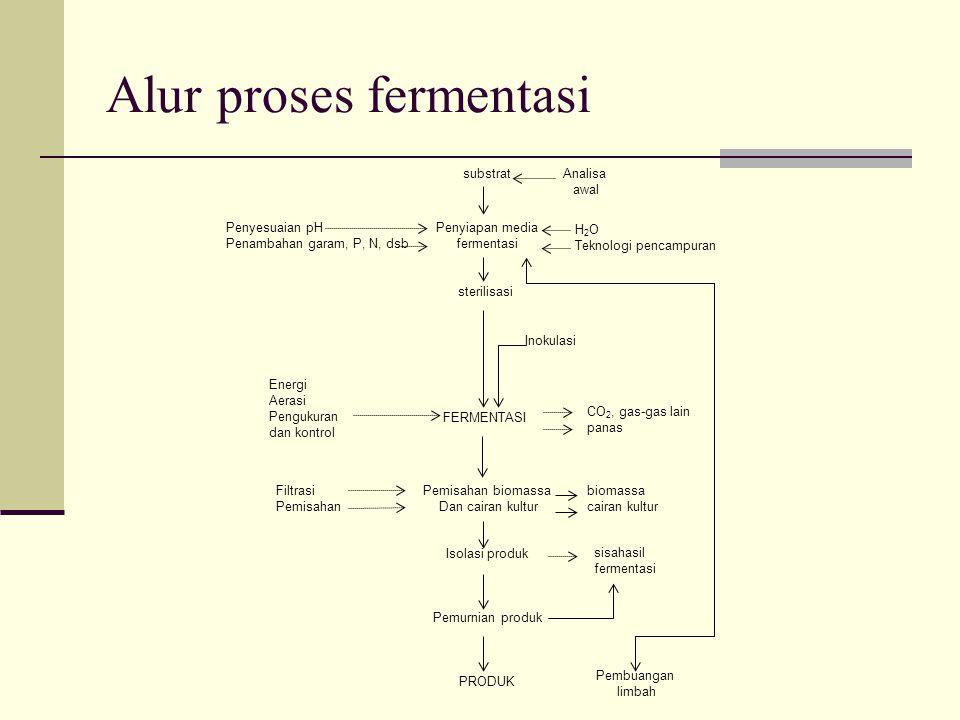 Alur proses fermentasi