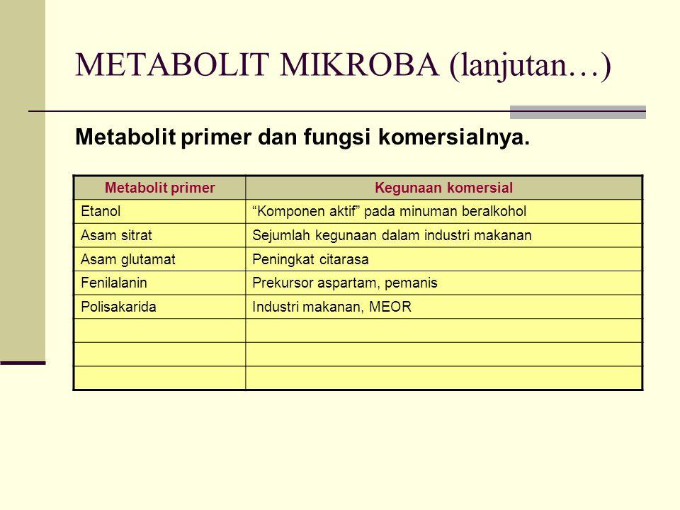 METABOLIT MIKROBA (lanjutan…)