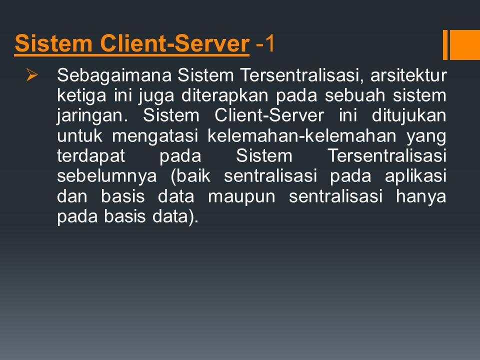 Sistem Client-Server -1