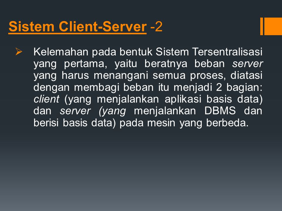 Sistem Client-Server -2