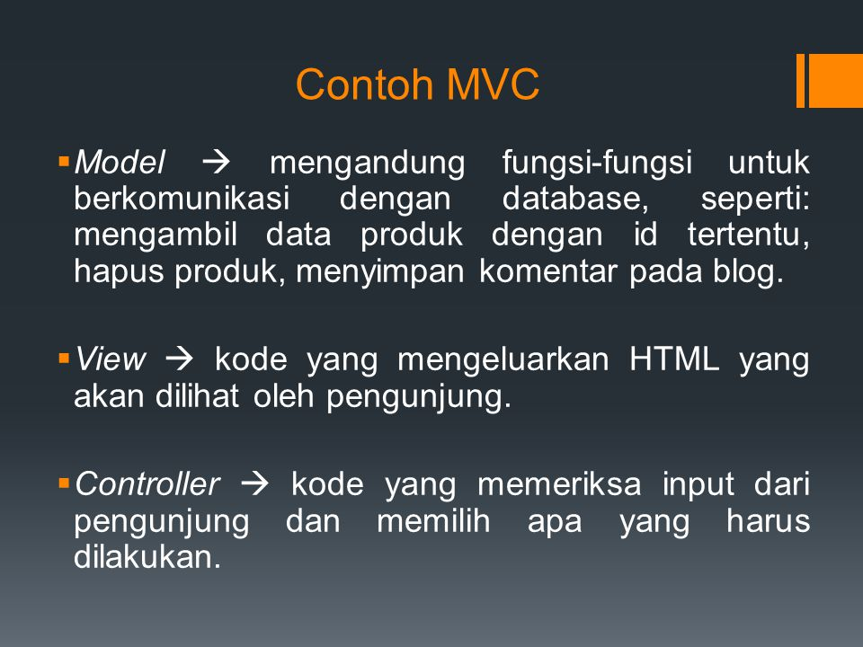 Contoh MVC