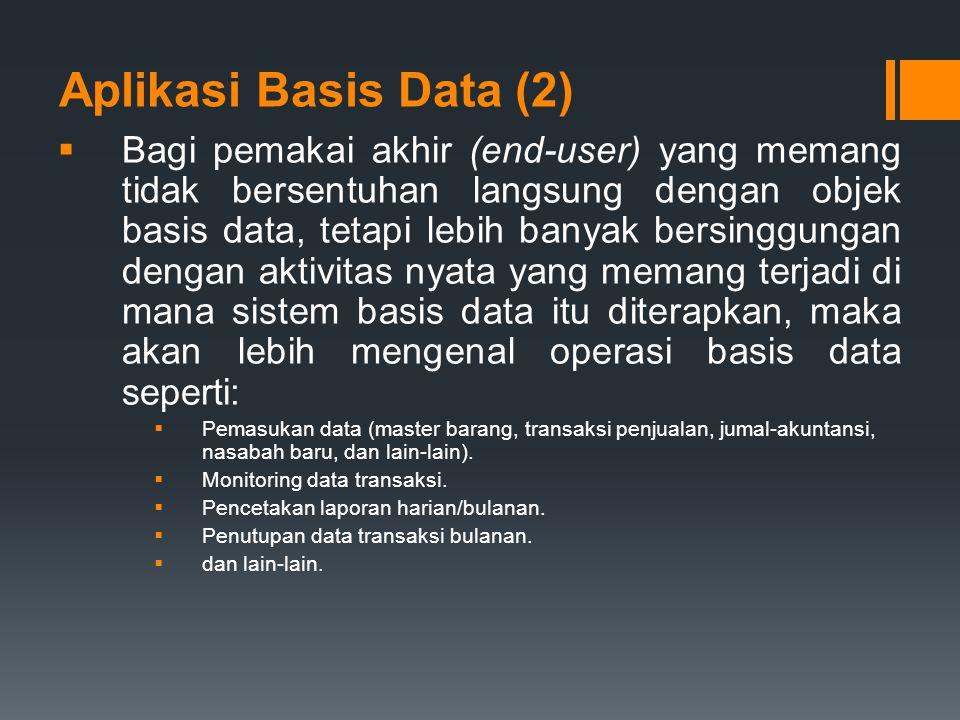 Aplikasi Basis Data (2)