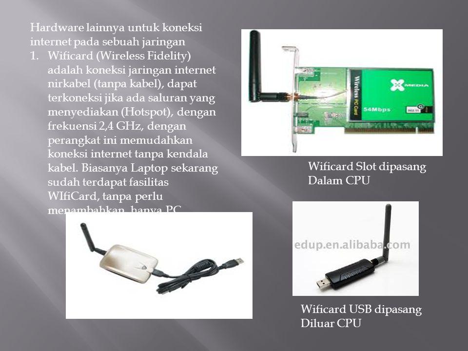 Hardware lainnya untuk koneksi internet pada sebuah jaringan