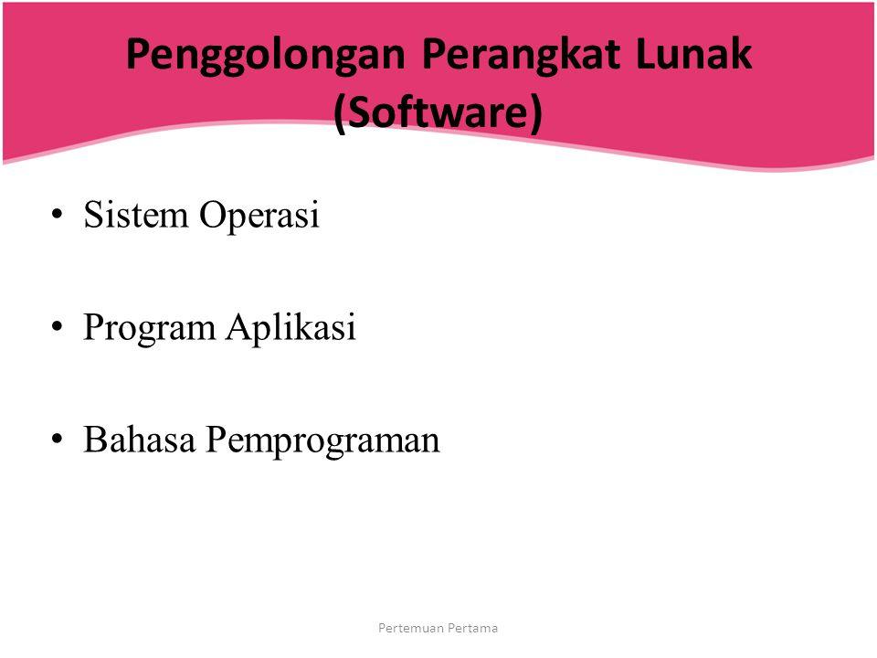 Penggolongan Perangkat Lunak (Software)