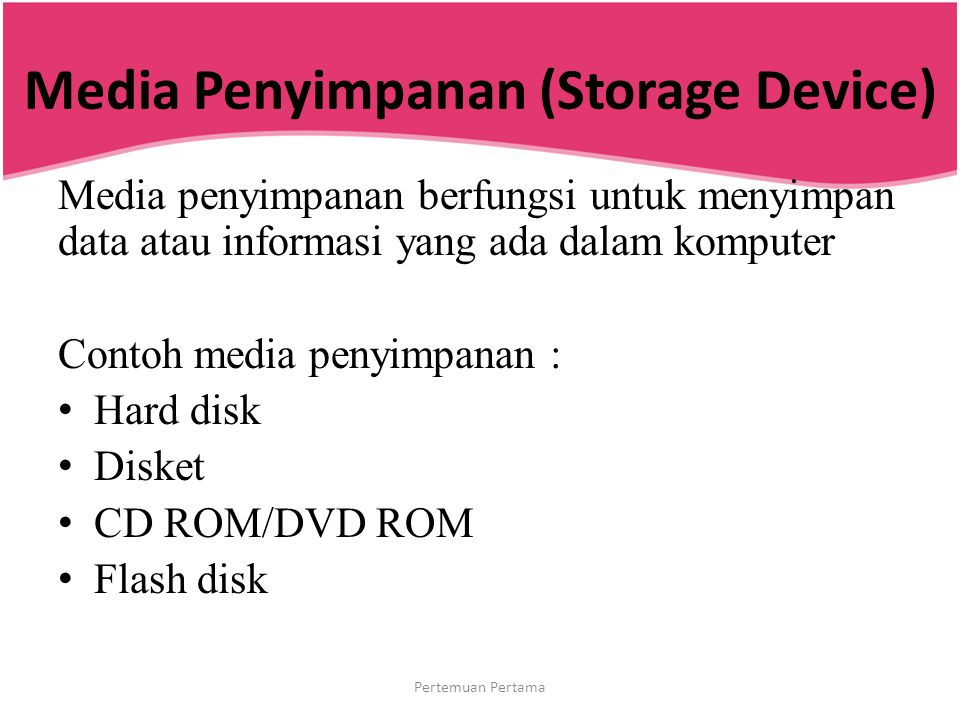 Media Penyimpanan (Storage Device)