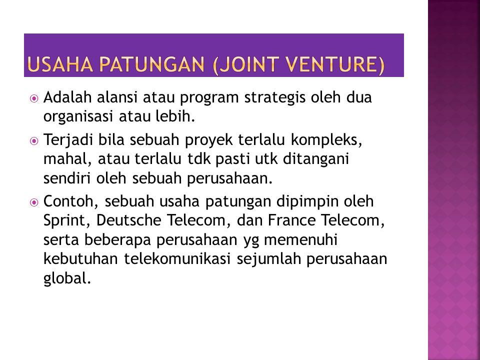 Usaha patungan (joint venture)