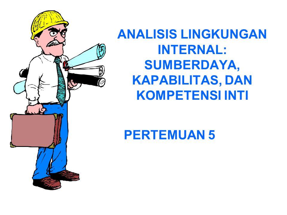 ANALISIS LINGKUNGAN INTERNAL: SUMBERDAYA, KAPABILITAS, DAN KOMPETENSI INTI