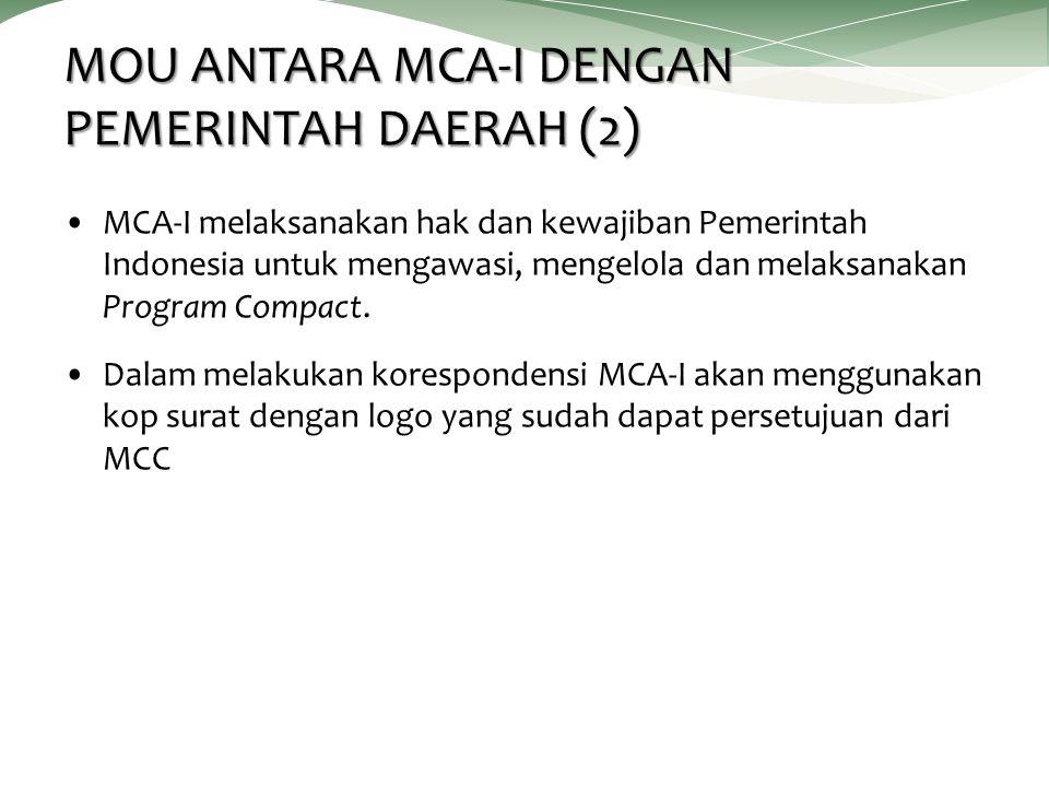 MOU ANTARA MCA-I DENGAN PEMERINTAH DAERAH (2)