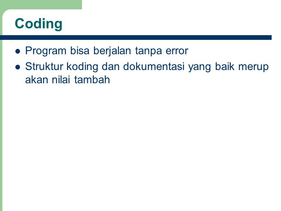 Coding Program bisa berjalan tanpa error