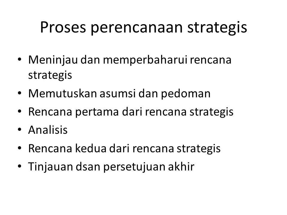 Proses perencanaan strategis