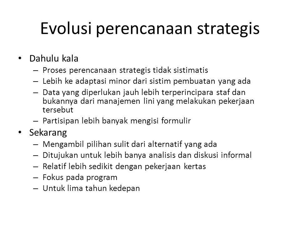 Evolusi perencanaan strategis