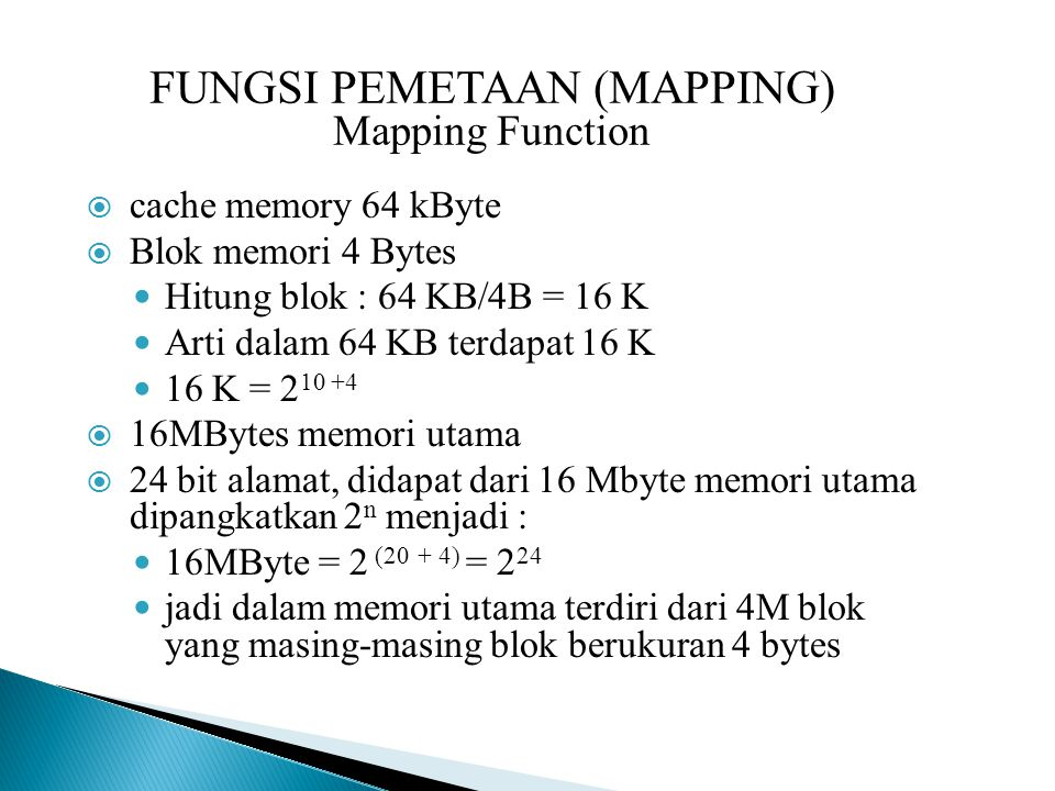 FUNGSI PEMETAAN (MAPPING) Mapping Function