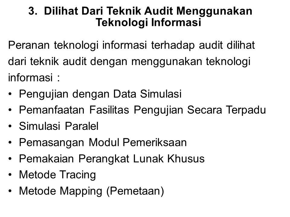 Dilihat Dari Teknik Audit Menggunakan Teknologi Informasi