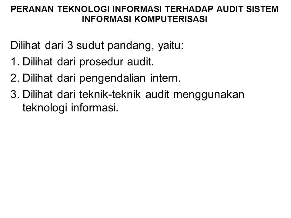 Dilihat dari 3 sudut pandang, yaitu: Dilihat dari prosedur audit.