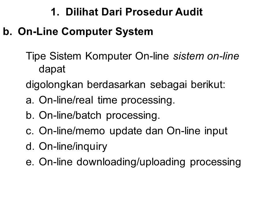 Dilihat Dari Prosedur Audit