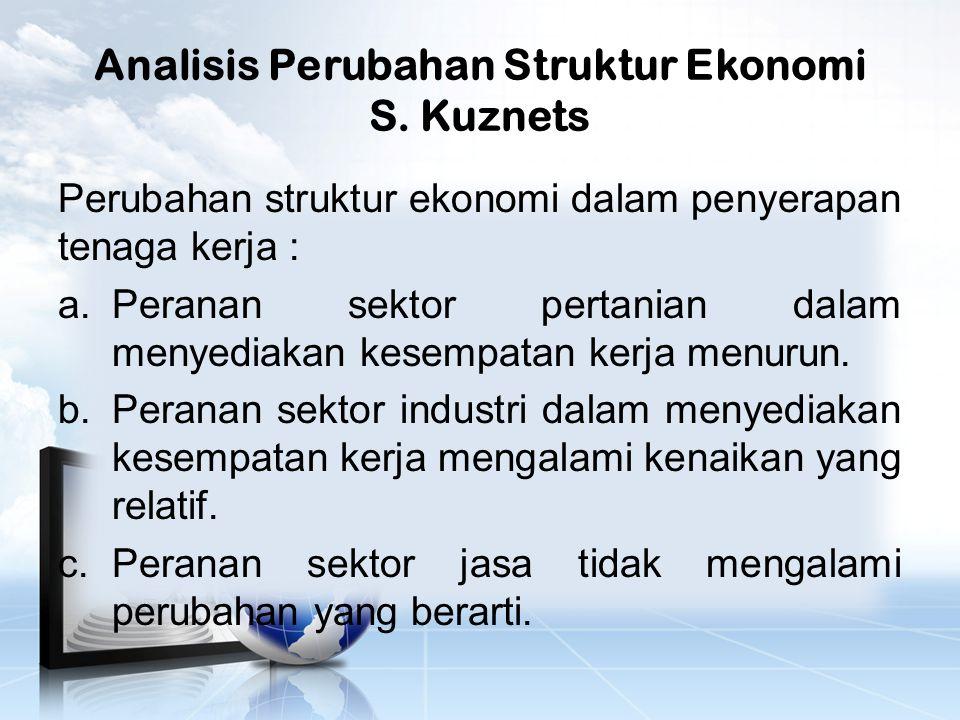 Analisis Perubahan Struktur Ekonomi S. Kuznets