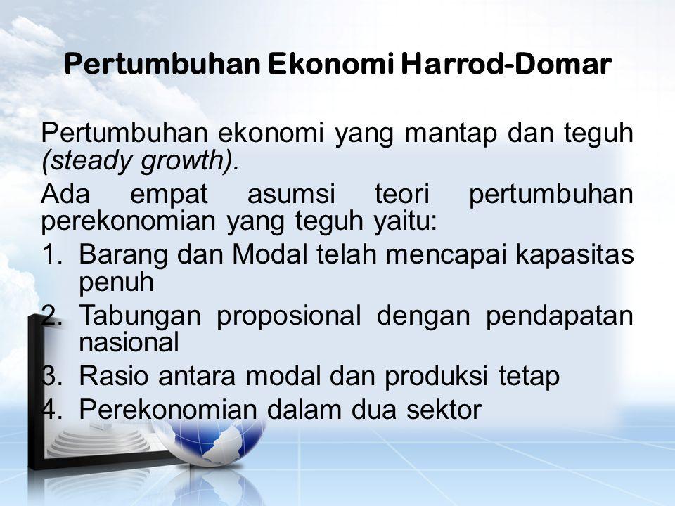 Pertumbuhan Ekonomi Harrod-Domar