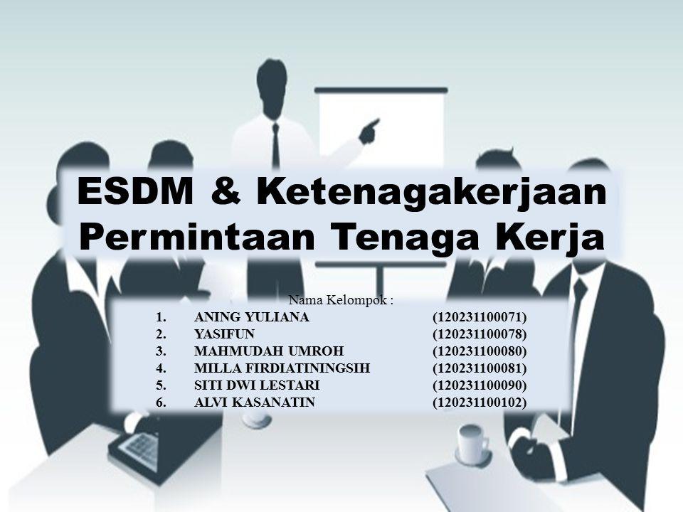 ESDM & Ketenagakerjaan Permintaan Tenaga Kerja