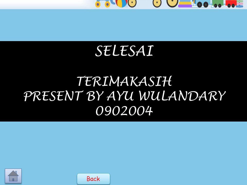 SELESAI TERIMAKASIH PRESENT BY AYU WULANDARY 0902004