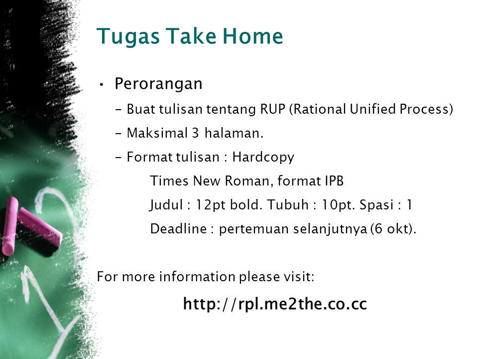 Tugas Take Home Perorangan http://rpl.me2the.co.cc