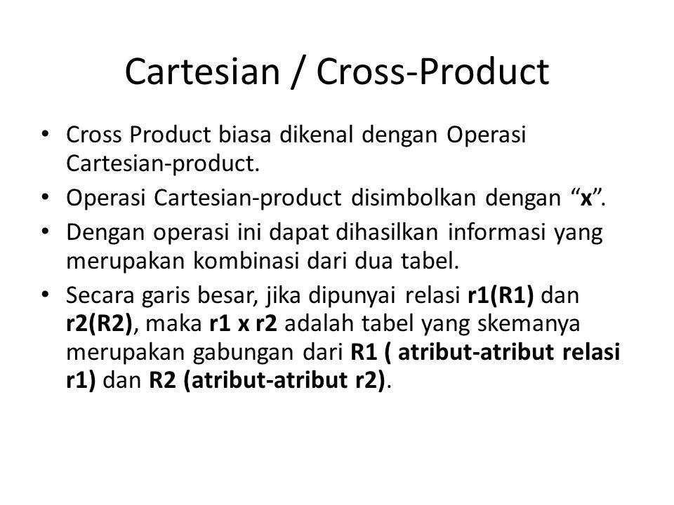 Cartesian / Cross-Product