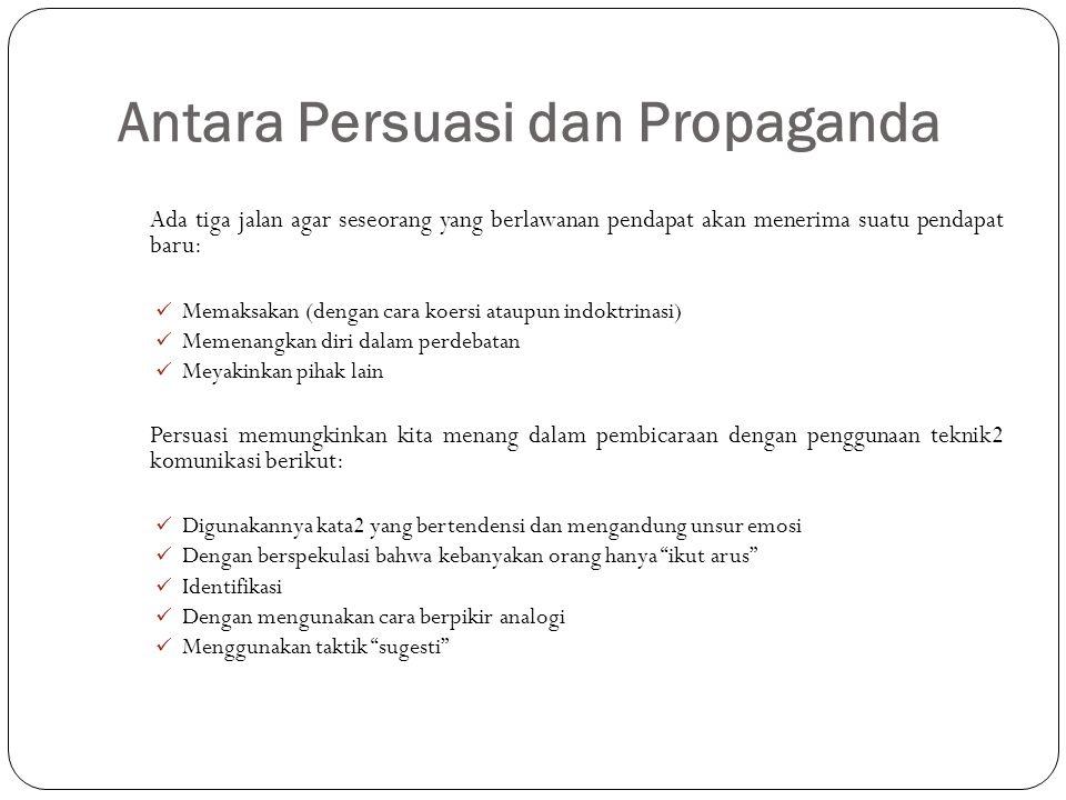 Antara Persuasi dan Propaganda
