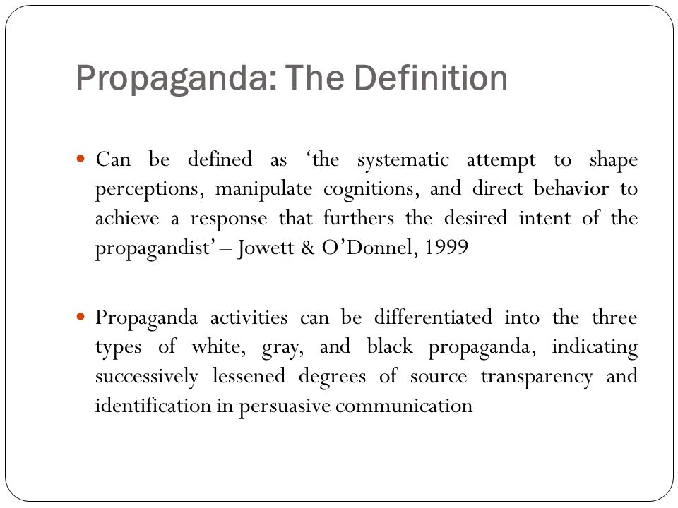 Propaganda: The Definition