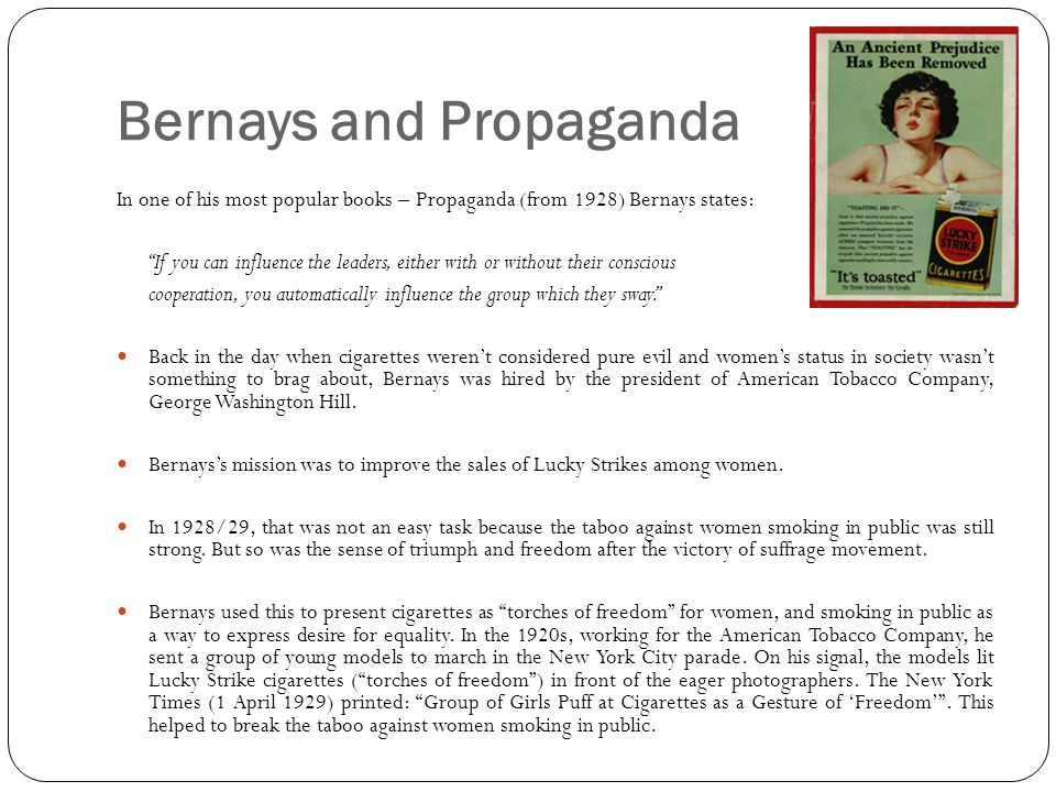Bernays and Propaganda