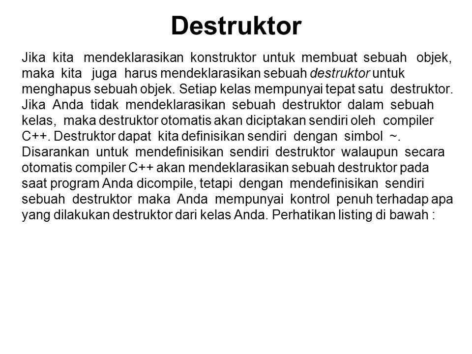 Destruktor