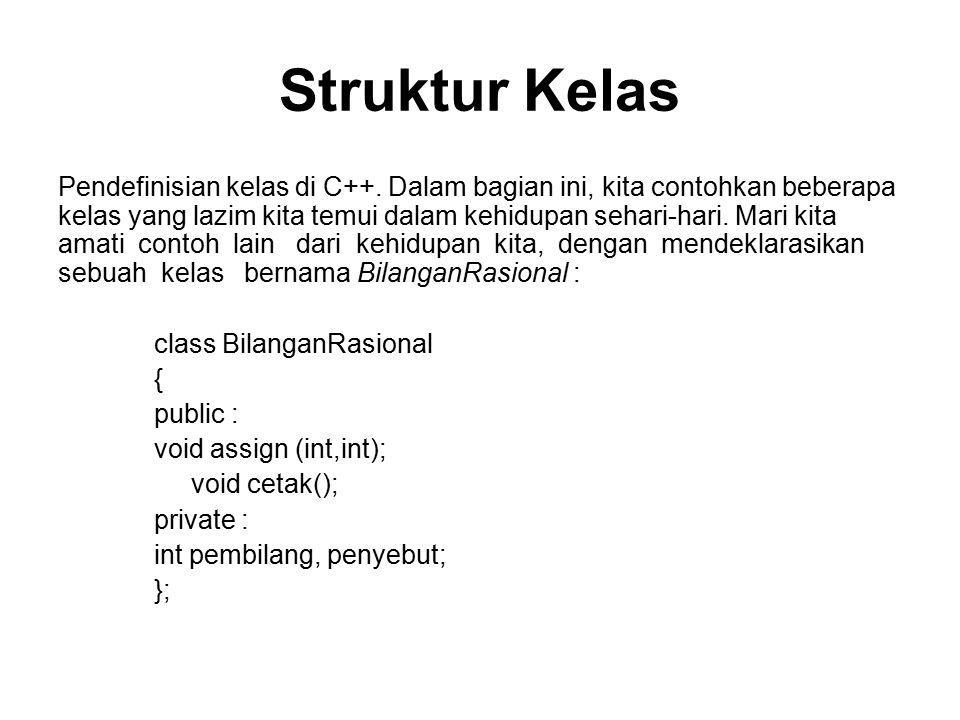 Struktur Kelas