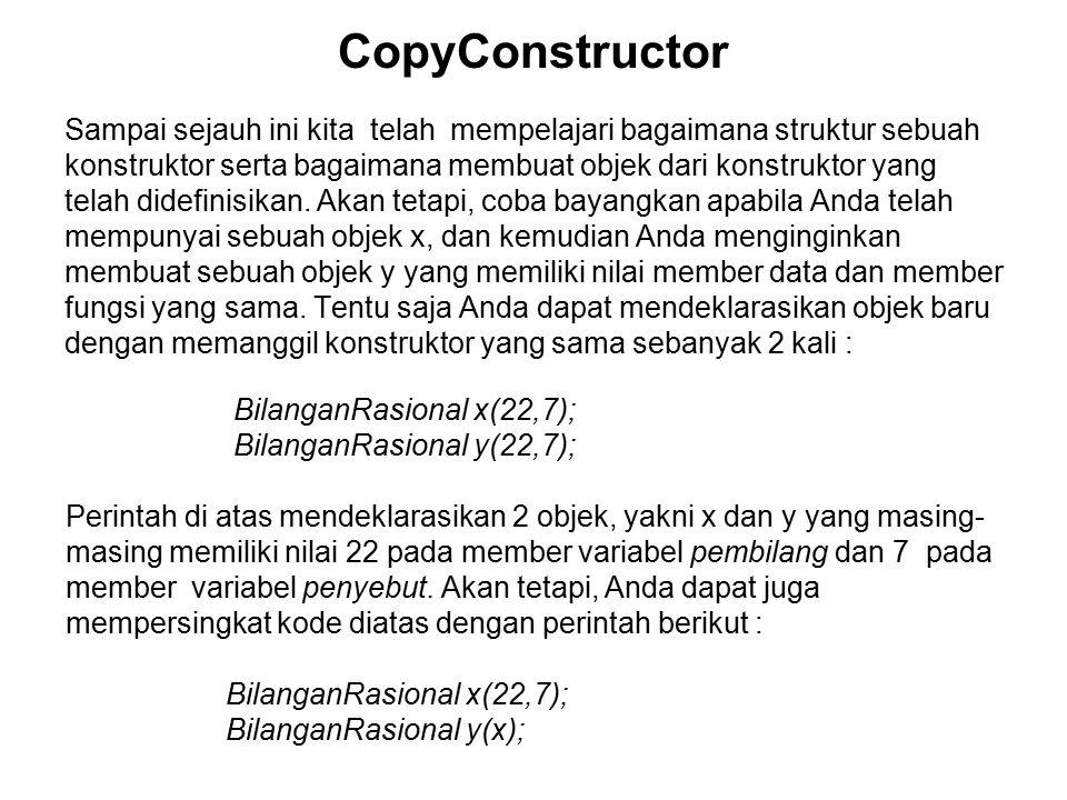 CopyConstructor