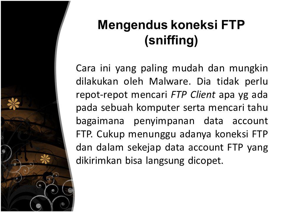 Mengendus koneksi FTP (sniffing)