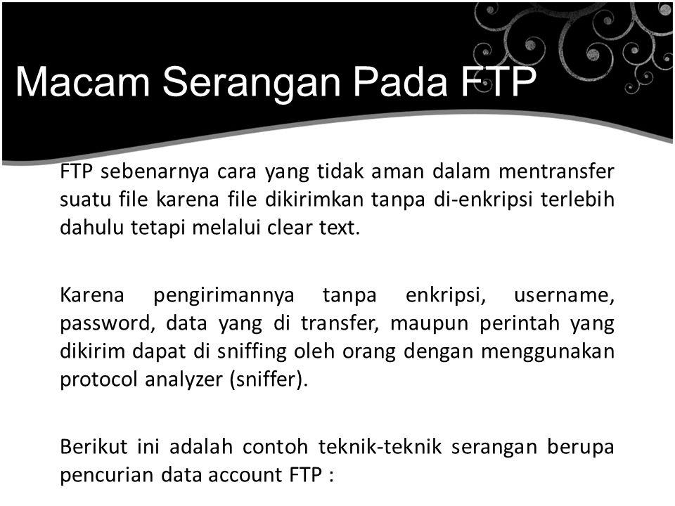 Macam Serangan Pada FTP